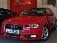 USED 2015 65 AUDI A4 2.0 TDI ULTRA SE TECHNIK 4d 163 S/S £20 TAX, FULL SERVICE HISTORY, UPGRADE HEATED FRONT SEATS, HDD SAT NAV WITH JUKEBOX & DVD PLAYBACK, FULL LEATHER, DAB RADIO, WIRELESS LAN CONNECTION (WLAN), BLUETOOTH W/ AUDIO STREAMING, AUDI MUSIC INTERFACE FOR IPOD / USB DEVICES (AMI), FRONT & REAR PARKING SENSORS WITH DISPLAY, FRONT FOGS, 17 INCH 5 SPOKE ALLOYS, LEATHER MULTI FUNCTION STEERING WHEEL, CRUISE, LIGHT & RAIN SENSORS WITH AUTO DIMMING REAR VIEW MIRROR, TYRE PRESSURE MONITORING SYSTEM, DUAL CLIMATE A/C, ISO FIX, VAT QUALIFYING.