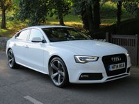USED 2014 14 AUDI A5 2.0 SPORTBACK TDI S LINE BLACK EDITION S/S 5d AUTO 148 BHP FROM £72 A WEEK! NO DEPOSIT!