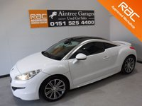 USED 2014 64 PEUGEOT RCZ 2.0 HDI SPORT FAP 2d 163 BHP AMAZING CAR IN GLEAMING WHITE BEST COLOR FOR A SPORTS CAR, IT HAS ONE OWNER FROM NEW WITH FULL , 4  PEUGEOT MAIN DEALER SERVICE HISTORY, THIS CAR IS EMACULATE IN SIDE AND OUT, THE CAR HAS REMOTE ELEC SPOILER, FLAT BOTTOM LEATHER CLAD STEERING WHEEL, ELEC FOLDING MIRRORS, ELEC WINDOWS, DAB RADIO CD WITH AUX AND USB