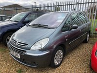 USED 2005 05 CITROEN XSARA PICASSO 1.7 PICASSO DESIRE 16V 5d 117 BHP This picasso is being sold as spares and repairs as it needs an o/s/r Door, Cambelt and waterpump has been done at 119,000 miles December 2017