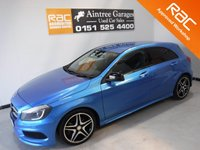 USED 2013 63 MERCEDES-BENZ A CLASS 1.5 A180 CDI BLUEEFFICIENCY AMG SPORT 5d 109 BHP AMAZING CAR AMAZING COLOUR ONE OWNER FULL HISTORY ONLY 46,000 MILES IN GLEAMING ELECTRIC BLUE, HALF LEATHER, ELEC WINDOWS, AND MUCH MUCH MORE