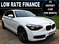 2014 BMW 1 SERIES 2.0 116D SPORT 5d 114 BHP £30 ROAD TAX, HIGH MILES PER GALLON £SOLD