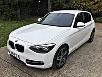 USED 2014 14 BMW 1 SERIES 2.0 116D SPORT 5d 114 BHP £30 ROAD TAX, HIGH MILES PER GALLON HIGH SPEC, LOW ROAD TAX, VERY LOW RUNNING COSTS,