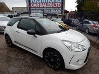 USED 2012 12 CITROEN DS3 1.6 DSTYLE PLUS 3d 120 BHP FULL SERVICE HISTORY, GREAT ECONOMY, GREAT VALUE