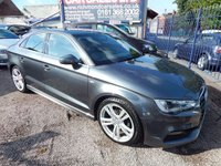 USED 2015 15 AUDI A3 2.0 TDI S LINE 4d 148 BHP FULLS SERVICE HISTORY, ALLOYS, AIR CONDITIONING