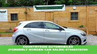 USED 2015 15 MERCEDES-BENZ A-CLASS 2.1 A200 CDI AMG SPORT 5d AUTO 136 BHP Stunning looking car that has AMG Styling,leather interior, AMG alloys 4 brand new Tyres and brand new discs and pads fitted less than 200 miles ago, Just had a full service and will have a brand new MOT, interior is black with contrasting red stitching, 18 inch AMG 5 twin spoke alloys, Black mirrors, privacy glass, MF wheel, bi-xenon headlights. Looks and drives fantastic!