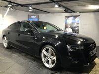 USED 2013 63 AUDI A5 3.0 SPORTBACK TDI QUATTRO S LINE BLACK ED S/S 5d AUTO 242 BHP Bluetooth : Satellite Navigation : DAB Radio : Full leather upholstery : Heated front seats : Isofix fittings : Paddleshift controls : Front + rear parking sensors : Full Audi service history
