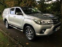 2016 TOYOTA HI-LUX INVINCIBLE 4WD D-4D D/CAB AUTO PICKUP **NEWSHAPE** £20995.00
