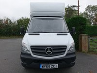 USED 2015 65 MERCEDES-BENZ SPRINTER LWB LUTON WITH TAILIFT 313 CDI 130 BHP Direct From 1 Company Owner With Sencible Mileage Air Conditioning & Rear Parking Camera