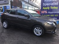 USED 2016 65 NISSAN QASHQAI 1.2 ACENTA DIG-T SMART VISION XTRONIC 5d AUTO 113 BHP, 1 Owner, Only 5000 miles ***APPROVED DEALER FOR CAR FINANCE247 AND ZUTO  ***