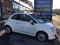 2012 FIAT 500 1.2 LOUNGE 3d 69 BHP, 2 Owners, only 47000 miles £4995.00