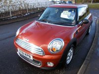 USED 2011 61 MINI HATCH ONE 1.6 ONE 3d 98 BHP ++NICE MINI WITH SERVICE HISTORY AND A FREE 12 MONTHS AA BREAKDOWN COVER++