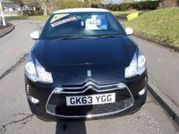 USED 2013 63 CITROEN DS3 1.6 DSTYLE 3d 120 BHP ++SERVICE HISTORY+CAR COMES WITH A FREE 12 MONTHS AA BREAKDOWN COVER++