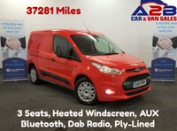 USED 2015 15 FORD TRANSIT CONNECT 1.6 200 TREND Very Low Mileage 37281 Miles, 3 Seats, Bluetooth, Dab Radio, Heated Front Screen. **Drive Away Today** Over The Phone Low Rate Finance Available