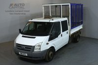 USED 2011 11 FORD TRANSIT 2.4 350 100 BHP LWB  D/CAB 6 SEATER CAGE COMBI TIPPER ONE OWNER S/H SPARE KEY