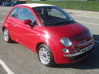 2010 FIAT 500 1.4 C LOUNGE 3d 99 BHP £4991.00