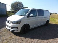2016 VOLKSWAGEN TRANSPORTER 2.0 T30 TDI  HIGHLINE BMT LWB, Camper van, Sleeps up to 5, Fully Kitted out £24995.00