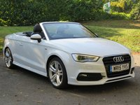 USED 2015 15 AUDI A3 1.6 TDI S LINE 2d 109 BHP CABRIOLET  FROM £60 A WEEK, NO DEPOSIT!