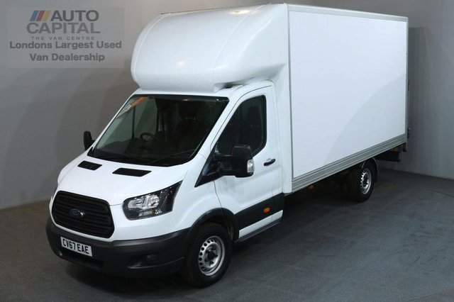 2017 67 FORD TRANSIT 2.0 350 170 BHP L3 LWB EURO 6 REAR TAIL LIFT FITTED LUTON VAN  EURO 6 ENGINE 13 FOOT REAR BED