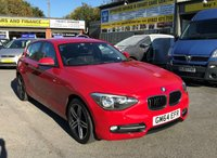 2014 BMW 1 SERIES 2.0 116D SPORT 5d 114 BHP IN SOLID RED WITH ONLY 40000 MILES IN IMMACULATE CONDITION £9499.00