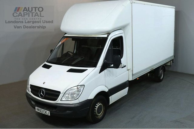 2013 63 MERCEDES-BENZ SPRINTER 2.1 313 CDI LWB L3 H3 129 BHP REAR LIFT LUTON VAN REAR LUTON BED LENGTH 13 FOOT