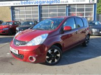 2012 NISSAN NOTE 1.4 N-TEC PLUS 5d 88 BHP £4995.00