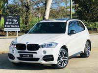 "USED 2015 BMW X5 3.0 M50D 5d AUTO 376 BHP 7 SEAT 7 Seats, Panoramic roof, 20"" Double spoke M-Sport alloys, Electric tailgate, M-Performance styling, Sat Nav, Bluetooth, DAB"