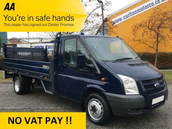 2011 FORD TRANSIT 2.4 100 T350 LWB DROPSIDE+T/LIFT  12.6ft ALLOY BODY DRW  £6950.00