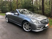 2012 MERCEDES-BENZ E CLASS 2.1 E220 CDI BLUEEFFICIENCY SPORT 2d AUTO 170 BHP £14495.00