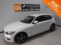 USED 2014 64 BMW 1 SERIES 2.0 116D SPORT 5d 114 BHP AMAZING CAR IN THE BEST COLOUR, GLEAMING ALPINE WHITE, WITH IMMACULATE BLACK INTERIOR WITHE CONTRASTING RED STITCHING AND A LEATHER CLAD STEERING MULTI FUNCTION STEERING WHEEL, DAB RADIO CD WITH AUX/USB CONNECTIONS, STOP START TECHNOLOGY, SPORT/ECO BUTTON, 18INCH UPGRADED ALLOYS, ELEC WINDOWS/MIRRORS ,