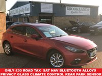 USED 2015 15 MAZDA 3 2.0 SE-L NAV Soul Red Met. 5 Door 118 BHP Fully Loaded One Owner Car !!! Only £30 Road Tax Huge Spec Sat Nav Bluetooth Alloys Privacy Glass Climate Control Park Distance Control