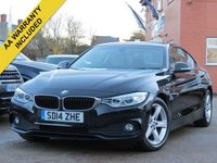USED 2014 14 BMW 4 SERIES 2.0 420D SE 2d 181 BHP SATELLITE NAVIGATION, LEATHER + FULL BMW SERVICE HISTORY
