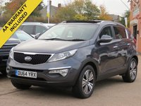 USED 2014 64 KIA SPORTAGE 2.0 CRDI KX-3 5d 134 BHP PANORAMIC ROOF+ REVERSING CAMERA