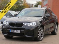 USED 2015 15 BMW X4 2.0 XDRIVE20D M SPORT 4d 188 BHP SATELLITE NAVIGATION + FULL MAIN DEALER HISTORY