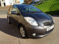 USED 2007 57 TOYOTA YARIS 1.3 TR MM 5d AUTO 86 BHP VERY LOW GENUINE MILE +  FULL SERVICE RECORD (8 STAMPS) +  1 OWNER FROM NEW +  FULL YEAR MOT +