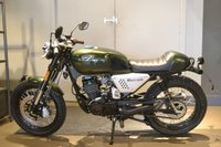 USED 2019 HANWAY HC125 BLACK CAFE HANWAY GREEN CAFE 125CC COOL CAFE RACER 125CC