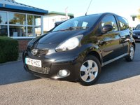 USED 2010 10 TOYOTA AYGO 1.0 BLACK VVT-I MM 5d AUTO 67 BHP TOYOTA AYGO BLACK VVTI-I Semi Automatic 5 Dr, 22,000 miles with a full Toyota service history, Half leather seats, £20 RFL 107 G/KM Air conditioning, fog lights, electric windows.