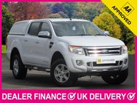 USED 2016 65 FORD RANGER 2.2 TDCI Limited Double Cab Hardtop Canopy 4WD 150 BHP HARDTOP CANOPY BLACK LEATHER AIR CON CRUISE