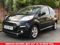 USED 2013 63 PEUGEOT 107 1.0 ENVY 3d 68 BHP SERVICE HISTORY, MOT SEPT 19.  £0 ROAD TAX, EXCELLENT CONDITION,  ALLOYS, E/WINDOWS, R/LOCKING, FREE  WARRANTY, FINANCE AVAILABLE, HPI CLEAR, PART EXCHANGE WELCOME,