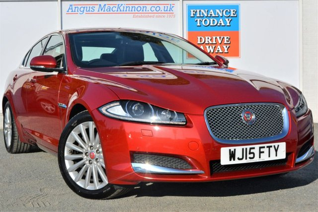 2015 15 JAGUAR XF 2.2 D LUXURY AUTO 4dr Saloon Stunning in Red with Black Leather and Very Low Mileage
