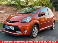 USED 2012 62 TOYOTA AYGO 1.0 VVT-I FIRE 3d 67 BHP EXCELLENT SERVICE HISTORY, MOT OCT 19.  £0 ROAD TAX, EXCELLENT CONDITION,  ALLOYS, AIR CON, FOGS, E/WINDOWS, R/LOCKING, FREE  WARRANTY, FINANCE AVAILABLE, HPI CLEAR, PART EXCHANGE WELCOME,
