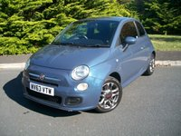 USED 2013 63 FIAT 500 1.2 S 3d 69 BHP Beautiful Pearl Blue Metallic, JUST 33,000 Miles From New with Full Service History, High Specification S Edition!!!