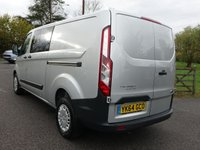USED 2015 15 FORD TRANSIT CUSTOM 330 TREND L2 LWB 6 SEAT CREWVAN 2.2TDCI 125 BHP High Specification Trend Model With Loads Of Additional Extras! Direct From Leasing Company With Superb Service History!