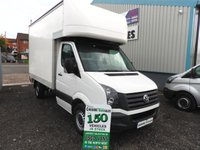 2013 VOLKSWAGEN CRAFTER 2.0 CR35 TDI 109 BHP MWB LUTON 1 OWNER FROM NEW  £8995.00