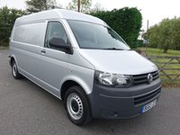 USED 2012 62 VOLKSWAGEN TRANSPORTER T30 2.0 TDI 102 BHP Rare Medium Roof Lwb Transporter With High Specification Including A/Con, Sat Nav, Reversing Camera & Quality Internal Racking!  Direct From Leasing Company With F/S/H