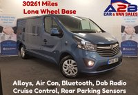 USED 2015 65 VAUXHALL VIVARO 1.6 2900 CDTI SPORTIVE 120 BHP Long Wheel Base ,  30339 Miles, Alloy Wheels Air Con, Bluetooth, Dab Radio, Cruise Control **Drive Away Today** Over The Phone Low Rate Finance Available