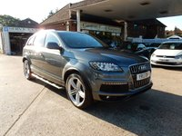 USED 2013 13 AUDI Q7 3.0 TDI QUATTRO S LINE PLUS 5d AUTO 245 BHP FULL LEATHER,SAT NAV,REAR CAMERA,TOW BAR,SERVICE HISTORY