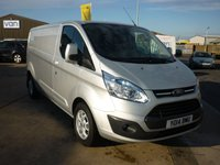 USED 2014 14 FORD TRANSIT CUSTOM 2.2 290 LIMITED L2H1 LOWROOF LWB BASE PANEL VAN 125 PS AIRCON ALLOYS BLUETOOTH AND MORE