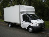 2013 FORD TRANSIT 2.2 350 DRW 1d 124 BHP LUTON WITH TAIL LIFT £10995.00