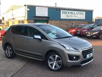 2015 PEUGEOT 3008 1.6 ALLURE HDI FAP  Vapor Grey 5d 112 BHP Fully Loaded 3008  £9995.00